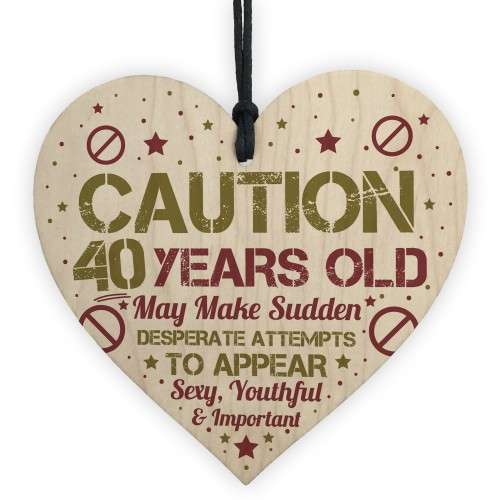 Funny 40th Birthday Card 40 Decorations Gift
