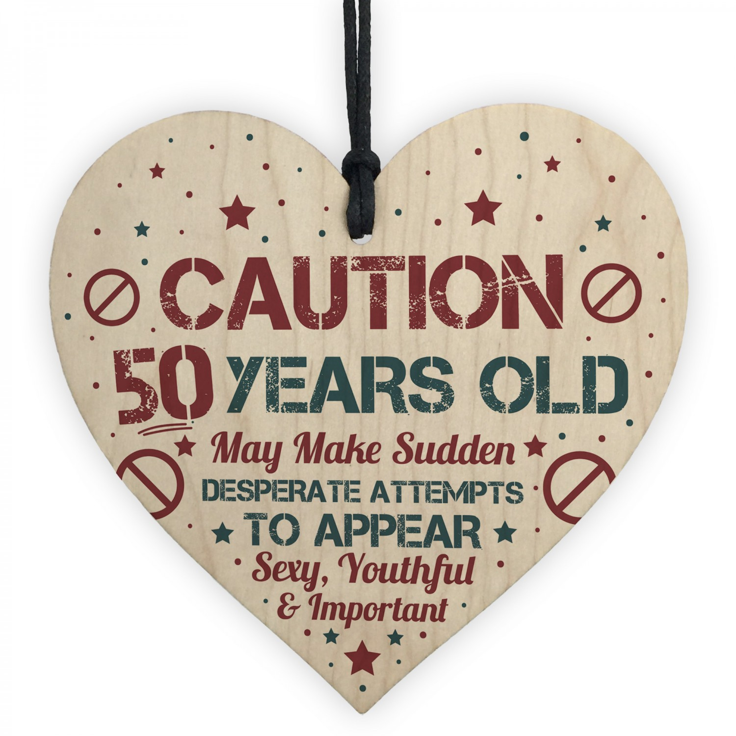 50 Birthday Decorations Heart Funny 50th Present Gift