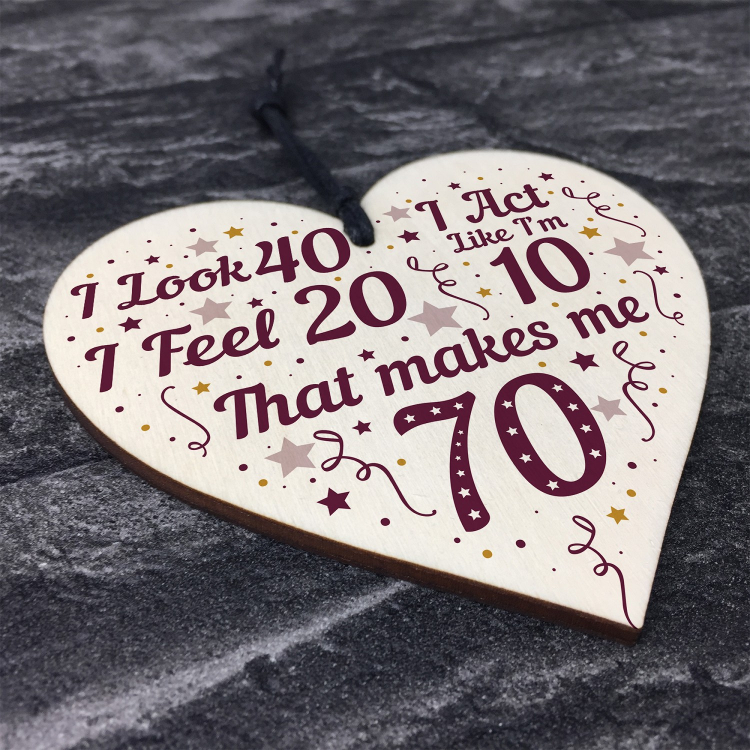 Funny 70th Birthday Gifts For Men Women Decorations