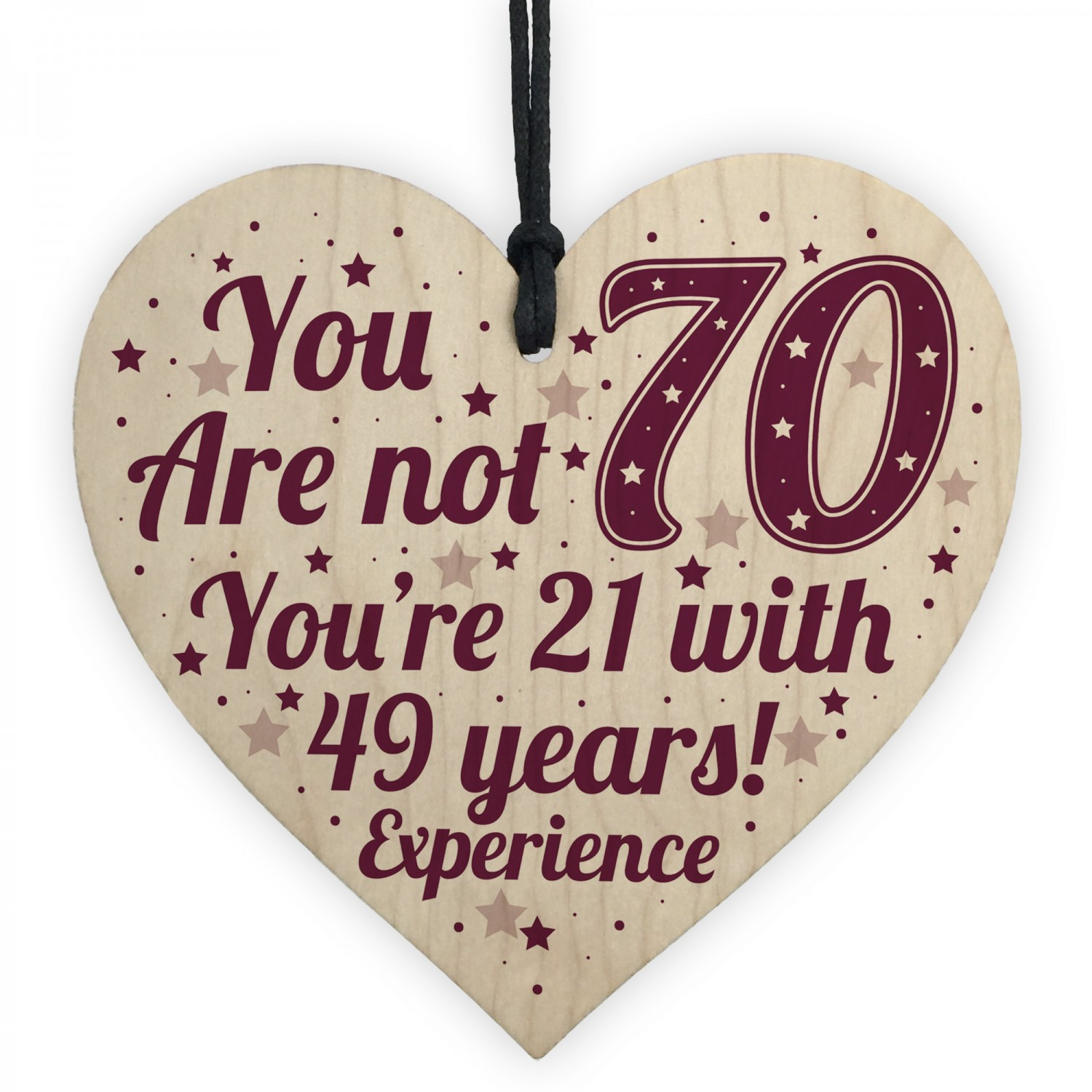70th Birthday Gift For Women Men Card Mum
