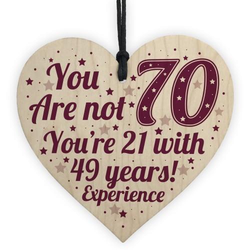 70th Birthday Gift For Women Men Card Mum