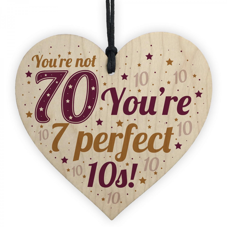 Funny 70th Birthday Card Gift For Women Men