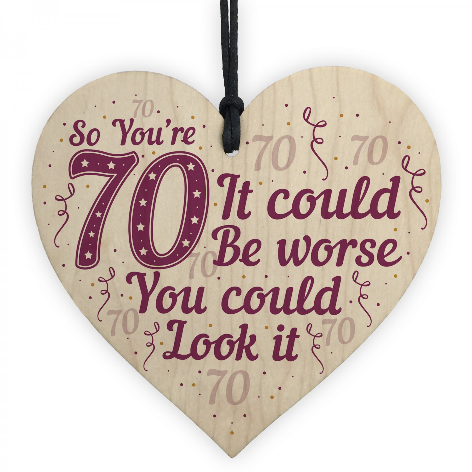 FUNNY 70TH BIRTHDAY Card 70th Birthday Gift For Mum Dad Nan