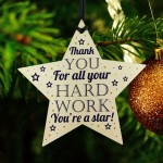 Thank You Gift For Colleague Employee Student Gift Wooden Star