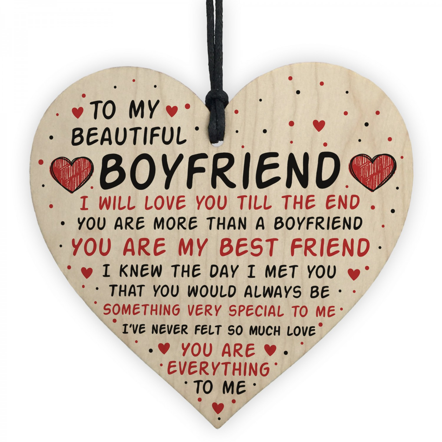 Boyfriend Gift Birthday Card Valentines