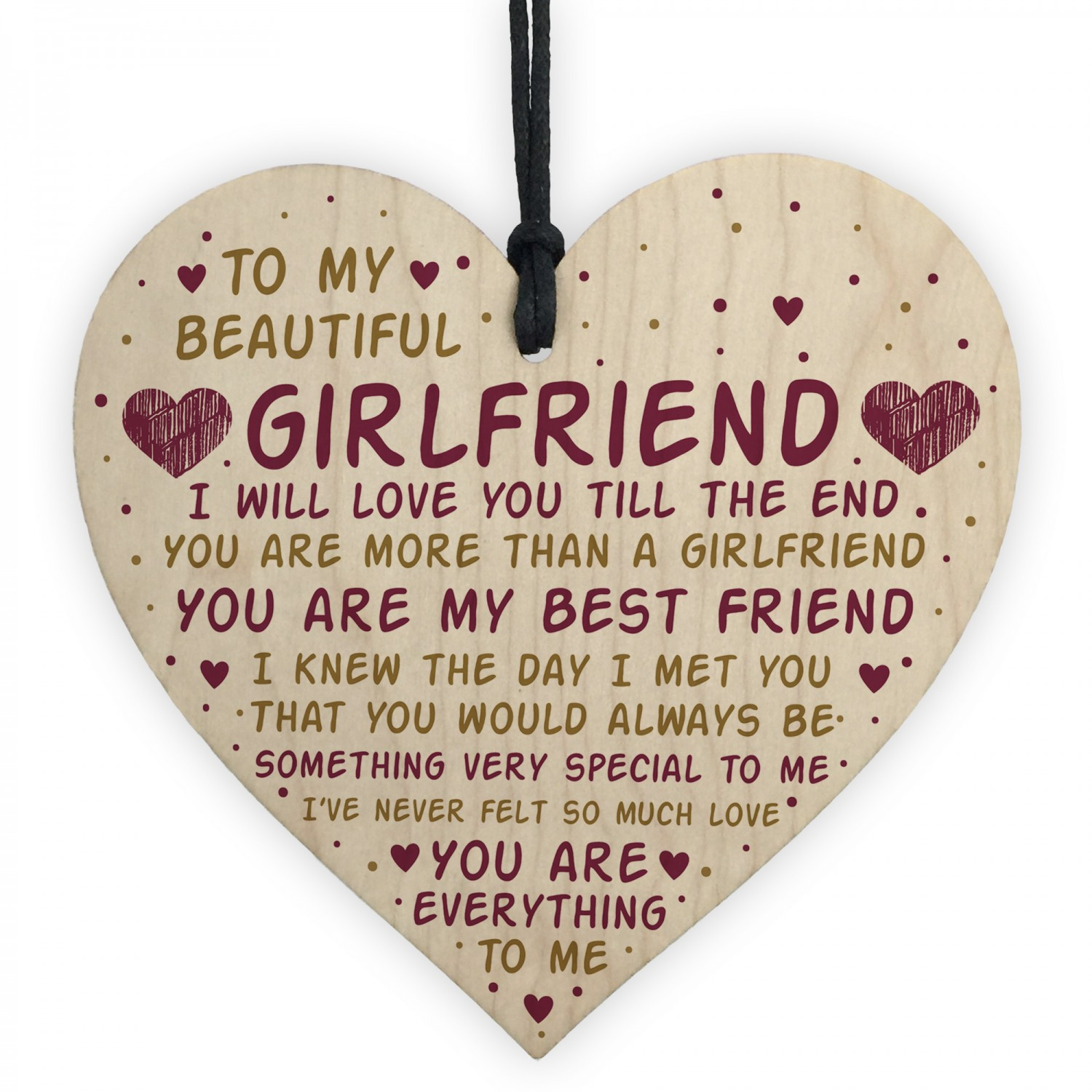 Girlfriend Gift Birthday Card Valentines