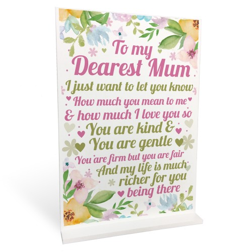 Mother Daughter Gift Standing Plaque Mum Gift Mothers Day Gift