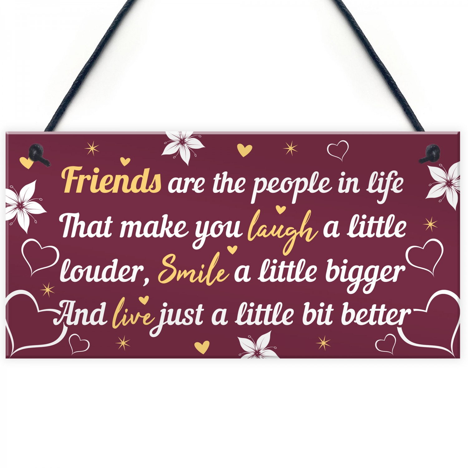 BEST FRIEND PLAQUE Thank You Gift For Her Birthday Gifts