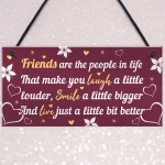BEST FRIEND PLAQUE Thank You Gift For Her Birthday Gifts For Her