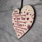 Anniversary Gift For Her Anniversary Gifts For Him Wood Heart