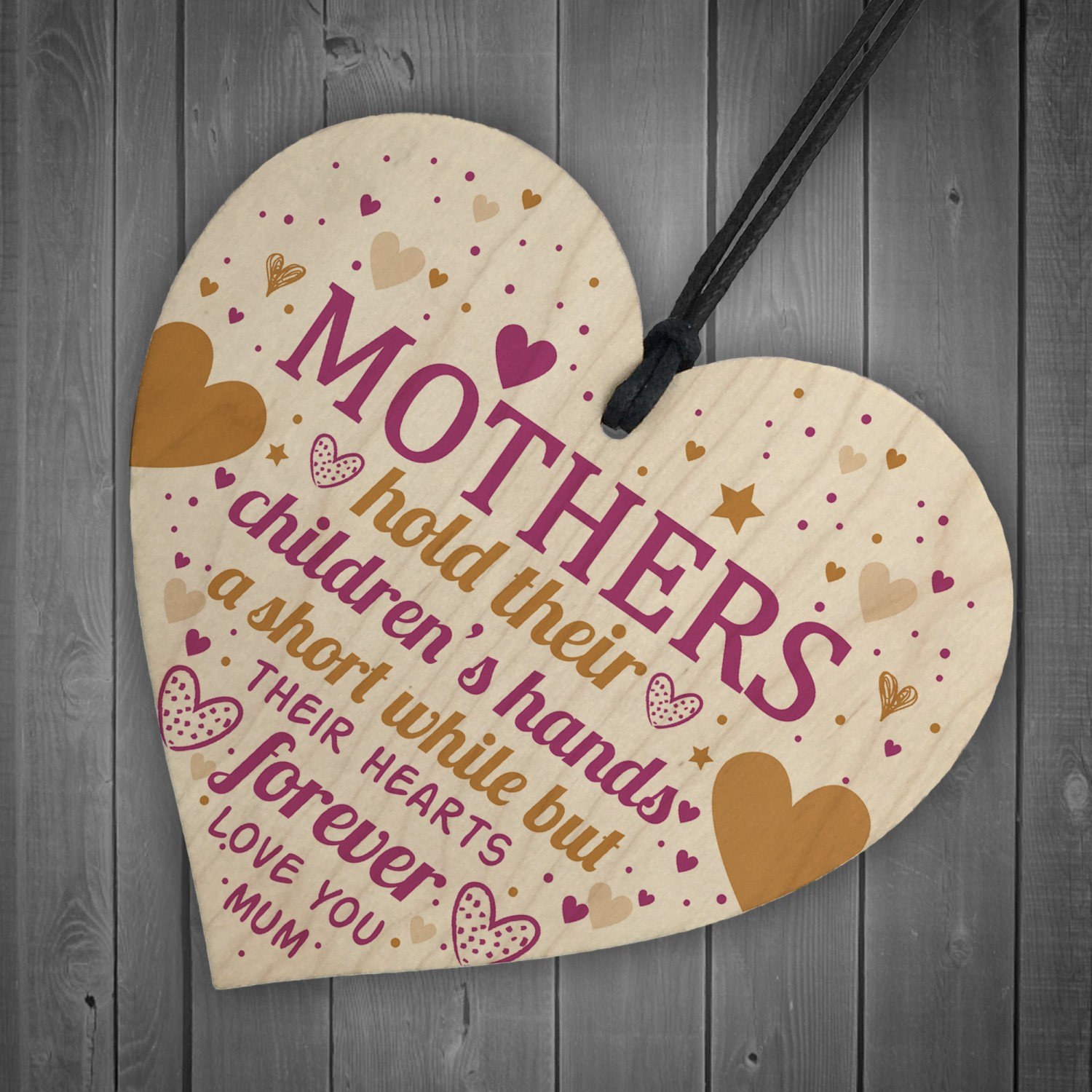 Mother Daughter Gifts Heart Mum Birthday Card Mothers Day Gift