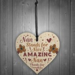 THANK YOU Gift For Nan Birthday Card MOTHERS DAY Gift Plaque