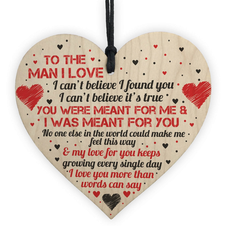 Husband Gifts Birthday Card Heart Anniversary Gift