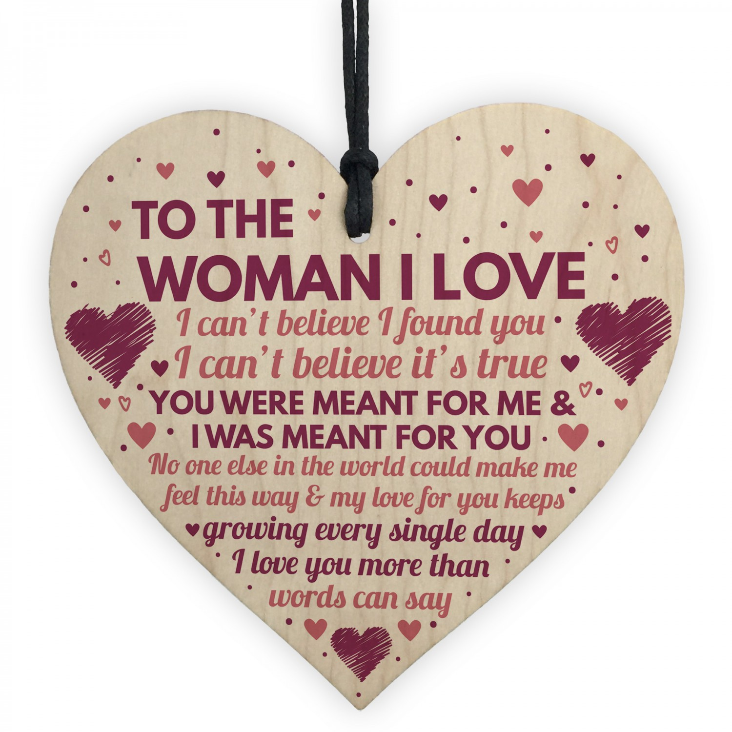Wife Birthday Gifts Card Wooden Heart Anniversary For Her