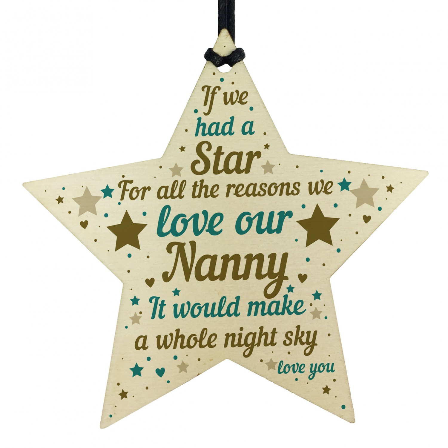 NANNY GIFTS Nanny Birthday Gift Wooden Star Plaque Mothers Day