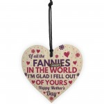 Funny Rude Mothers Day Gifts Novelty Wood Heart Gift For Mum