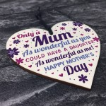 Mothers Day Gift From Daughter Wood Heart Mother Daughter