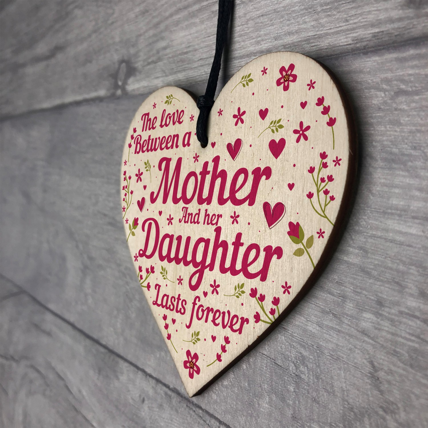 Mum Gifts Mothers Day Birthday From Daughter Wood Heart