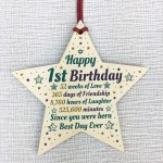 1st First Birthday Gifts For Baby Girl Boy Wooden Heart Gifts