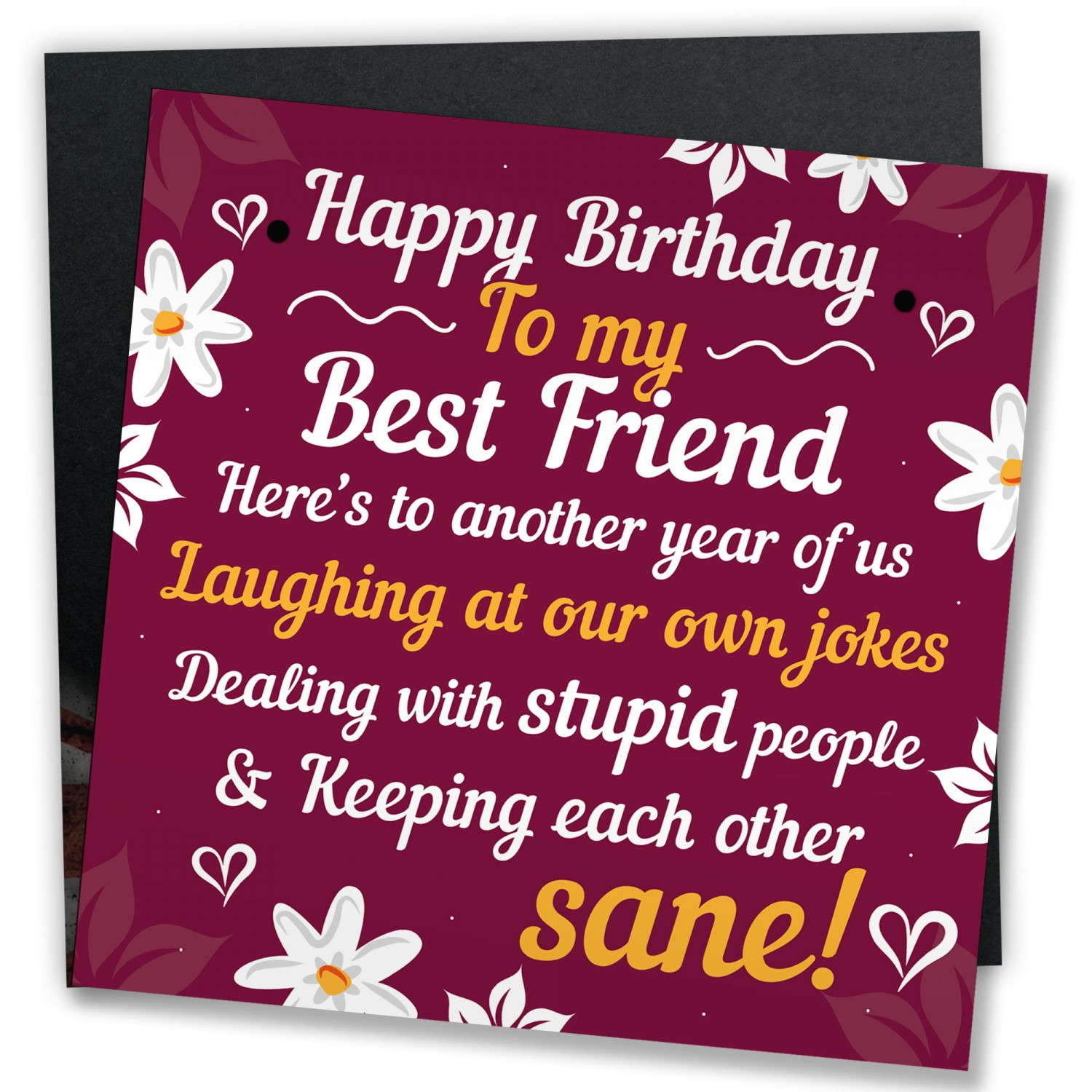 HAPPY BIRTHDAY Card Best Friend Birthday Gift Friendship Plaque