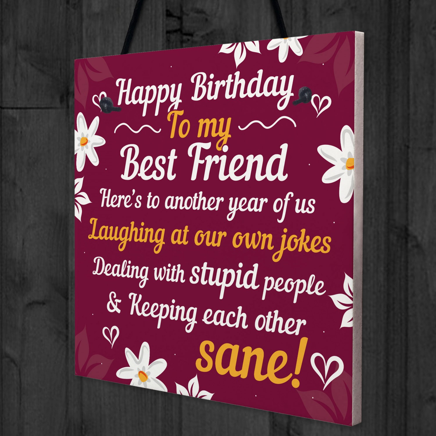 Remarkable Happy Birthday Card Best Friend Birthday Gift Friendship Plaque Funny Birthday Cards Online Aboleapandamsfinfo