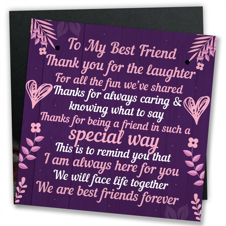 BEST FRIEND Plaque Special Friendship Gift Best Friend Birthday