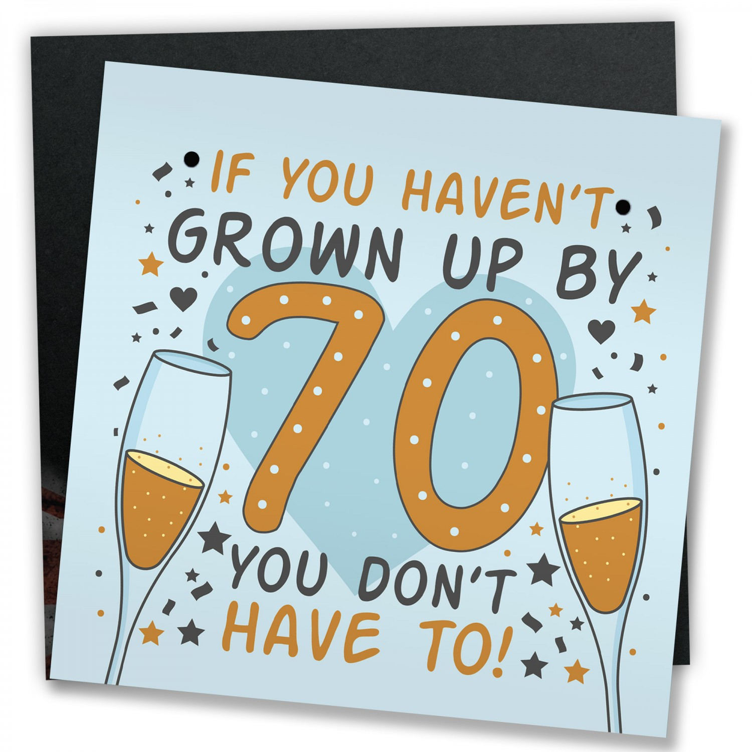 Funny 70th Birthday Card Presents For Women Men