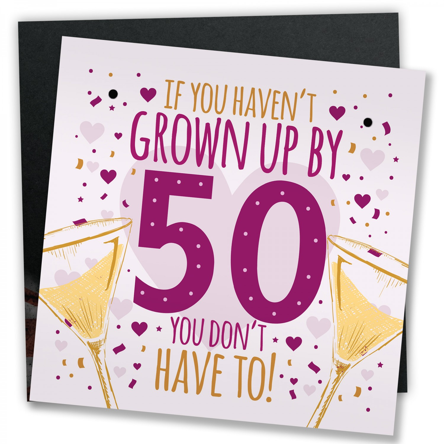 50th Birthday Card Gift For Women Men 50 Dad Mum Sister