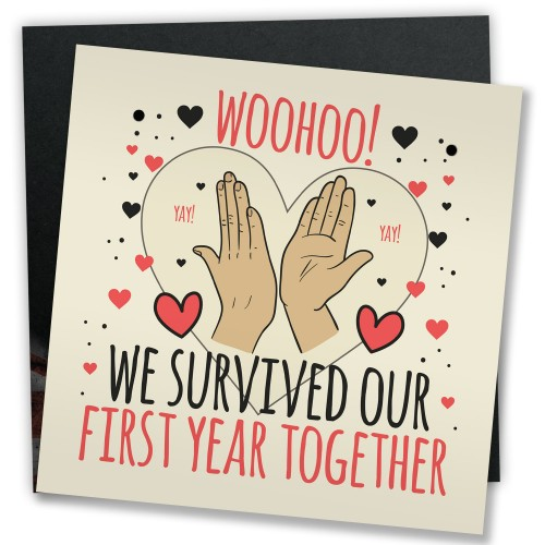 1st Anniversary Card First Anniversary Gift For Him Her Plaque