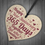 1st Anniversary Gift First Anniversary Wood Heart Husband Wife