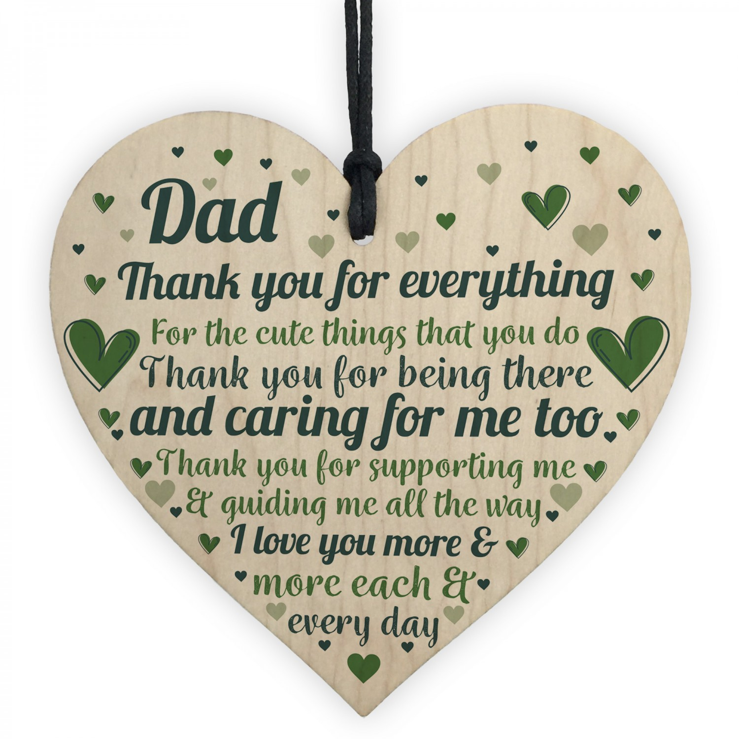Cute Dad Gift Wooden Heart Birthday For Daughter Son Gi
