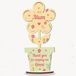 Cute Mum Gift Mothers Day Gift Wood Flower Gift For Mum Birthday