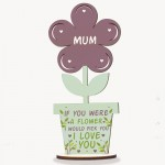 Mother's Day Gift Wooden Flower Mum Birthday Gift From Daughter