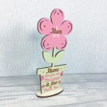 Mothers Day Gift Wood Flower Mothers Day Card Gift For Mum Sign