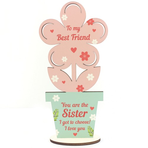 Best Friend Gifts Sister Gifts Wooden Flower Friendship Gift
