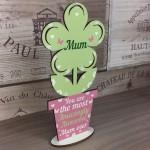 Amazing Mum Gift Wooden Flower Mum Birthday Christmas Gift