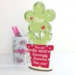 Amazing Nan Gifts Wooden Flower Nan Birthday Christmas Gifts