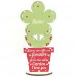 Novelty Sister Gifts Wooden Flower Birthday Gift For Sister