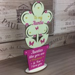 Auntie Birthday Gifts Wood Flower Sister Gifts From Niece Nephew