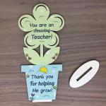 Amazing TEACHER GIFTS Wooden Flower Thank You Gift For Teacher