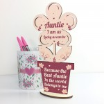 Auntie Birthday Gifts From Niece And Nephew Wooden Flower Sister