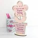 Mummy To Be Gifts From Bump Wooden Flower Gift For Mummy