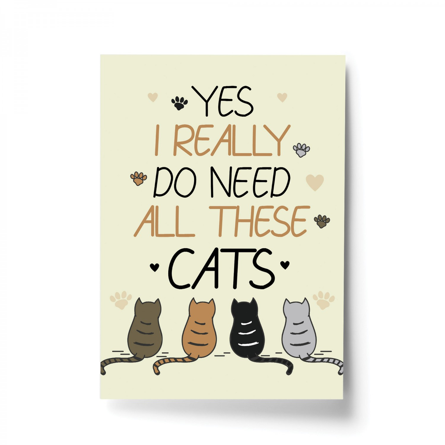 Cat Print Bedroom Wall Art Home Decor Funny Cat Sign Cat Gift