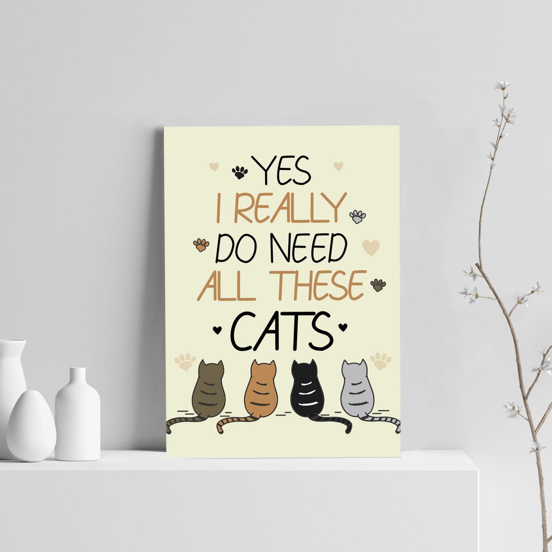 721838edc7eaf Cat Print Bedroom Wall Art Home Decor Funny Cat Sign Cat Gift