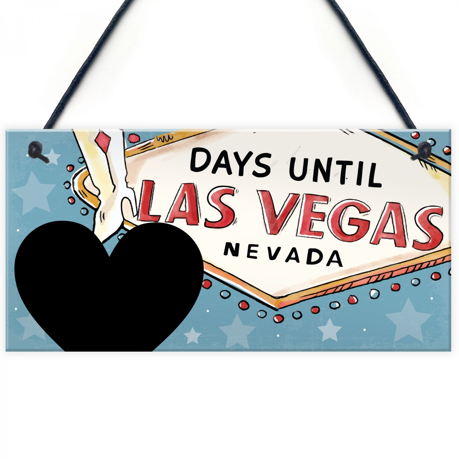 Wooden Countdown Plaque Chalkboard Fun Novelty Days Until Our Holiday Sign