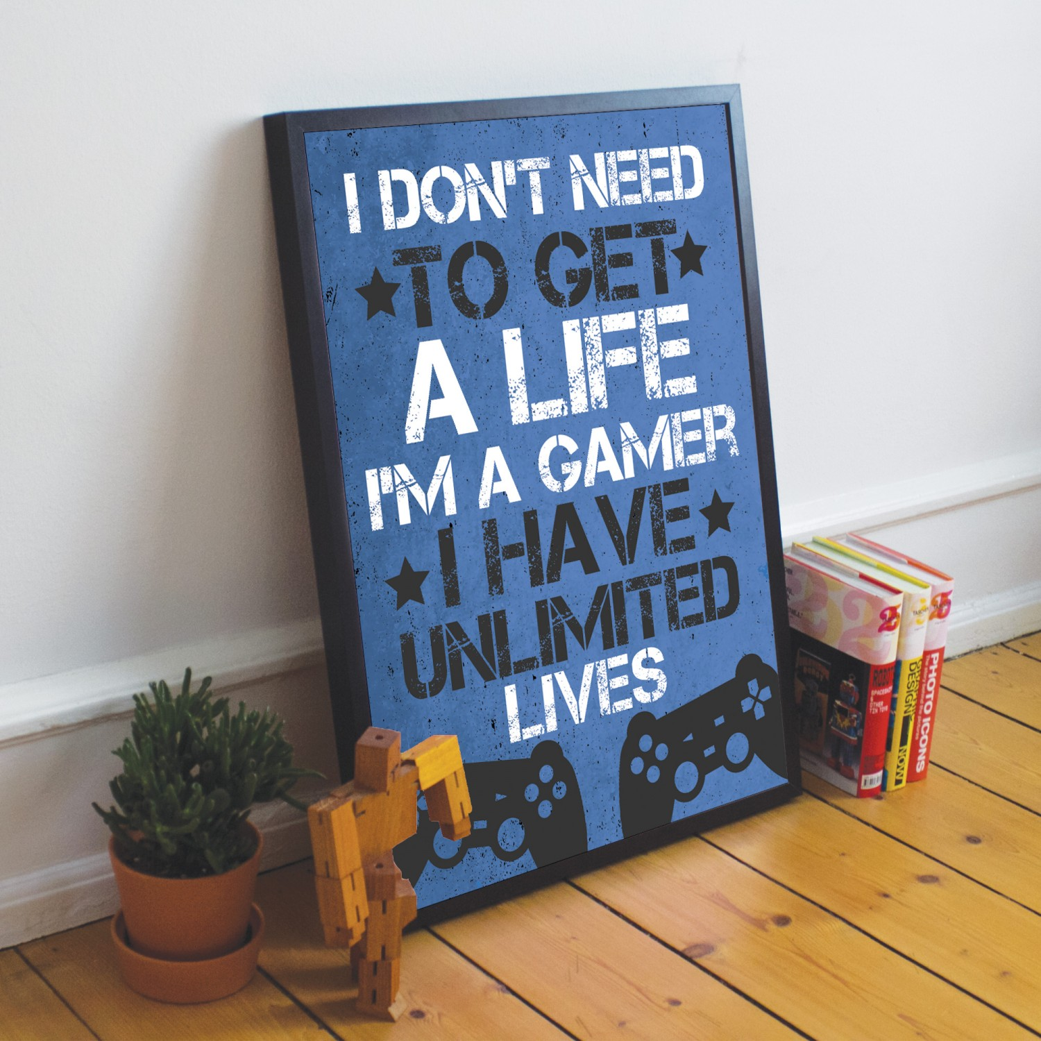 Gamer Don/'t Need A Life Novelty Wooden Hanging Plaque Funny Boy Partner Gift
