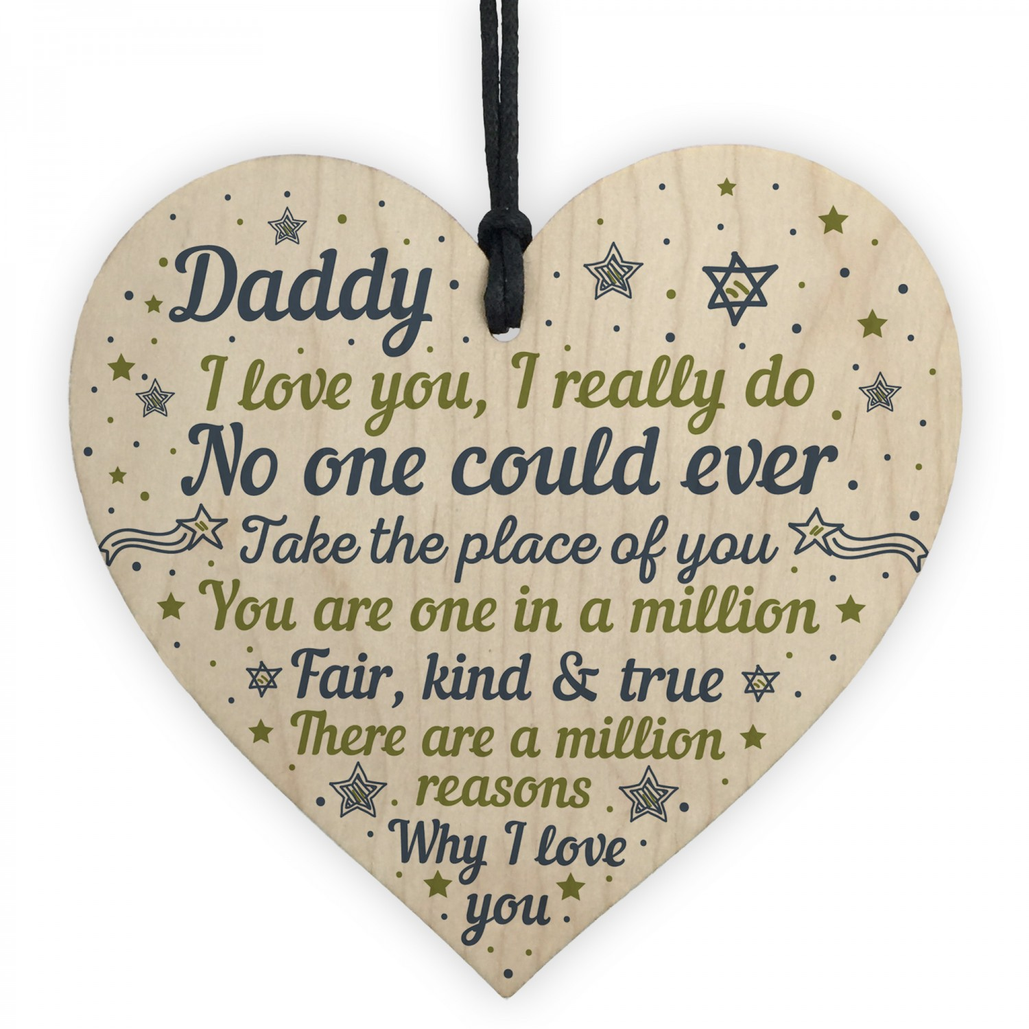 Daddy Daughter Gifts Fathers Day Gift Wooden Heart Dad Birthday