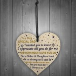 SPECIAL DAD Wooden Heart Dad Birthday Gift FATHERS DAY Gift