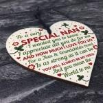 Nan Gifts From Grandchildren Wooden Heart Nan Birthday Gifts