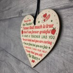Teacher Gift Leaving Present Hanging Wooden Heart Nursery Gifts